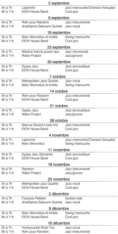 programmation-automne-2014  Mardi JAZZ programmation automne 2014