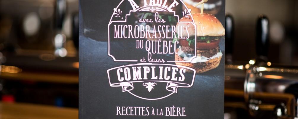Livre de recettes – A table avec les microbrasseries du Québec et leurs complices recettes à la bière